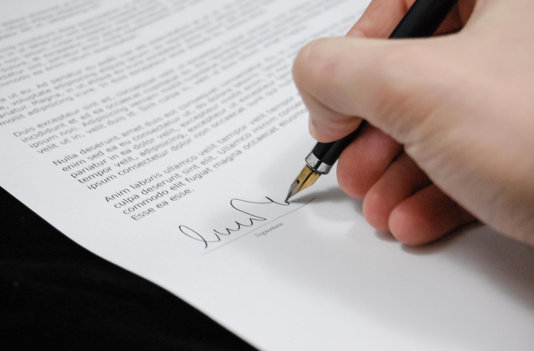 Stock Image - Signature
